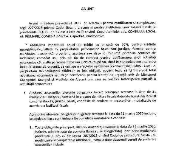 ANUNT ANULARE ACCESORII OUG 69 DIN 2020