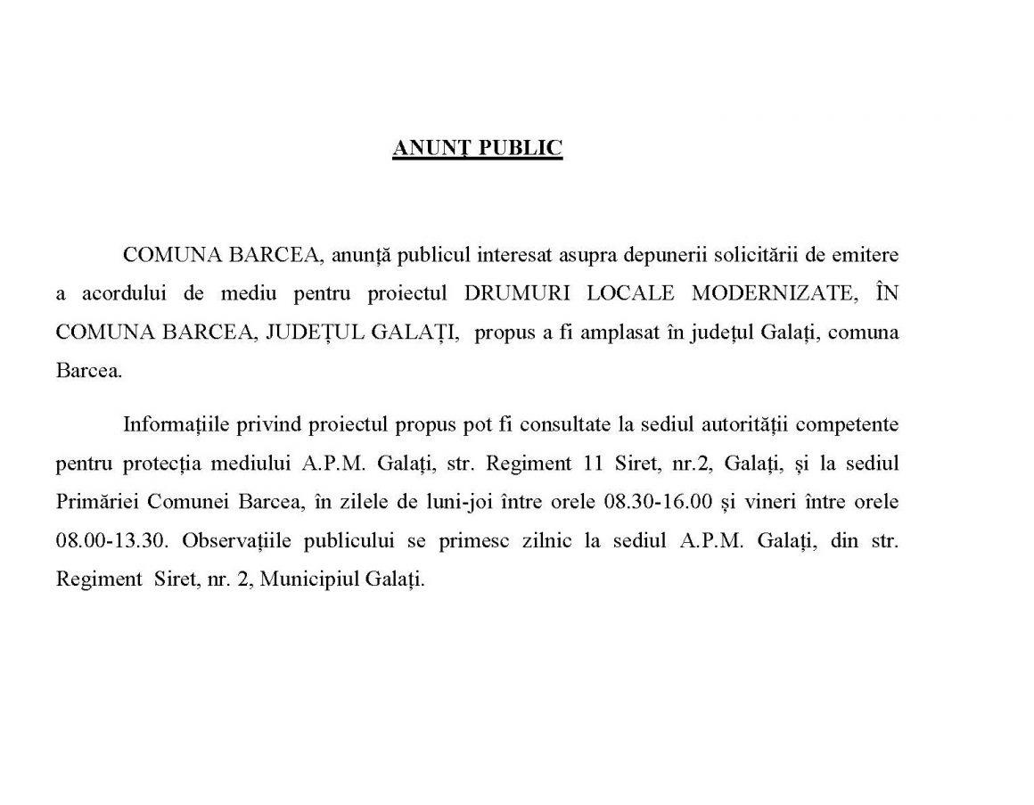 13.10.2021 ANUNȚ PUBLIC
